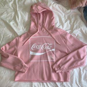 Coca Cola raw hem hoodie sz m